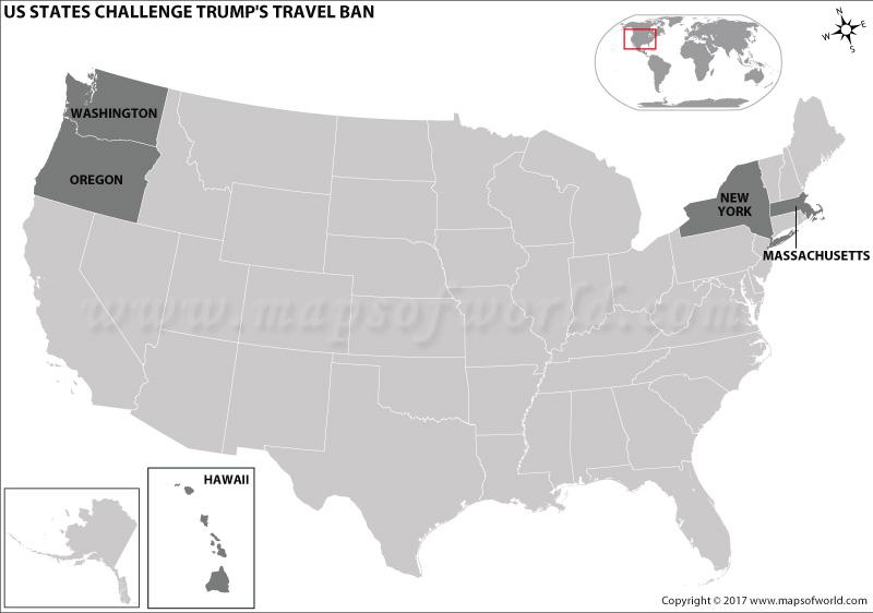 US States Challenge Trump's Travel Ban