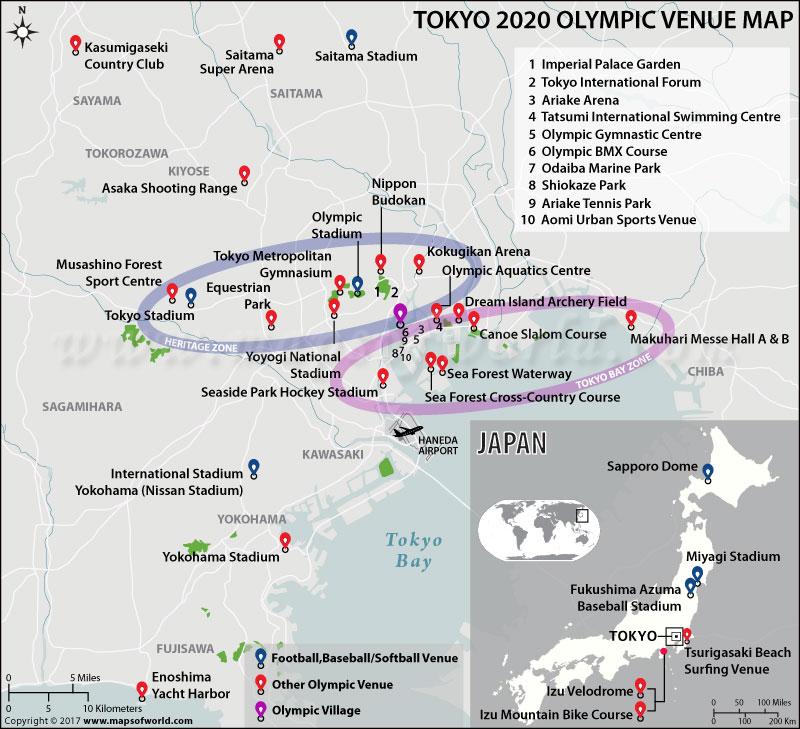 Rio de Janerio Summer Olympics Venues Map