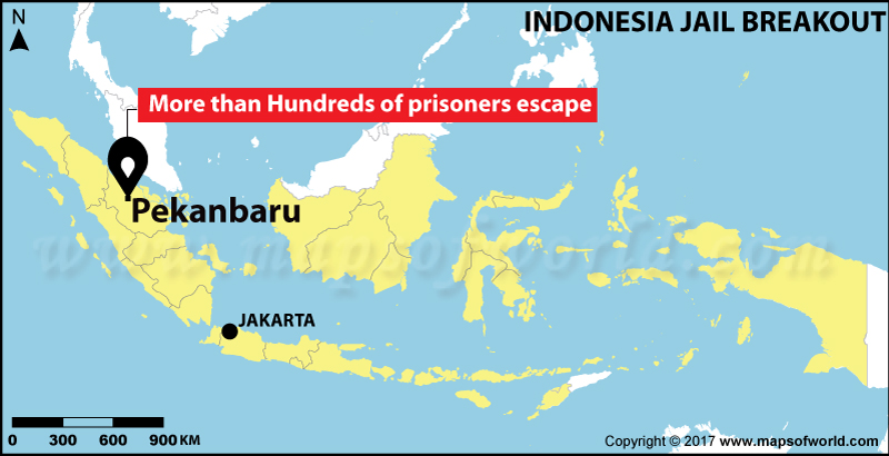 Location Map of Indonesian Jail Breakout