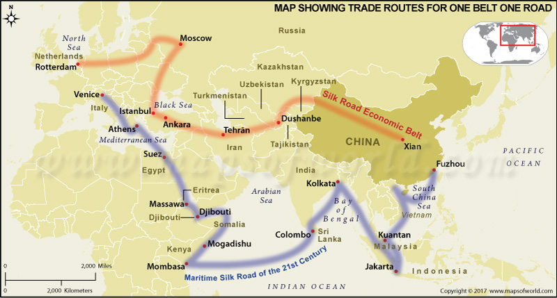 China One Belt One Road Map