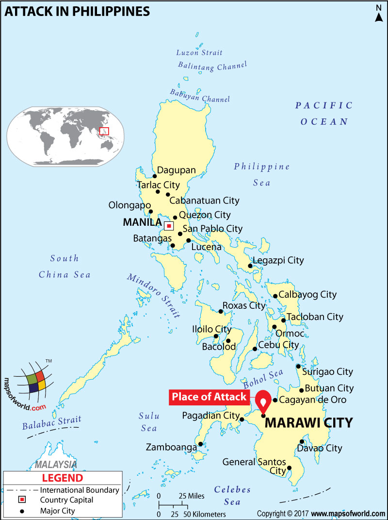 Location Map of Attack in Philippines
