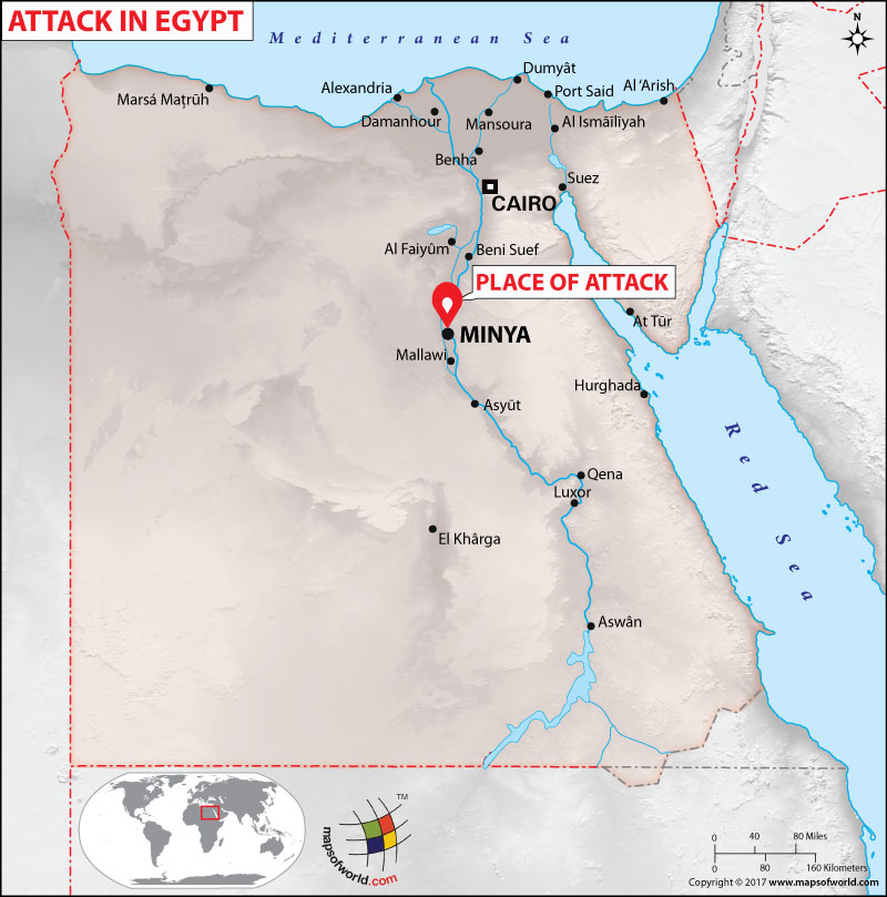 Location Map of Attack in Egypt